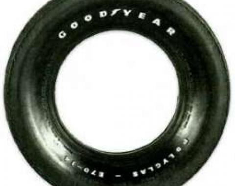 Tire - F70 x 14 - Raised White Letters - Goodyear Custom Wide Tread Polyglas