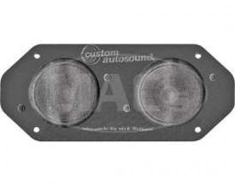 Dual Front Radio Speaker Assembly - 3 - 80 Watt Capacity - Dash Mount - For Cars Without Air Conditioning