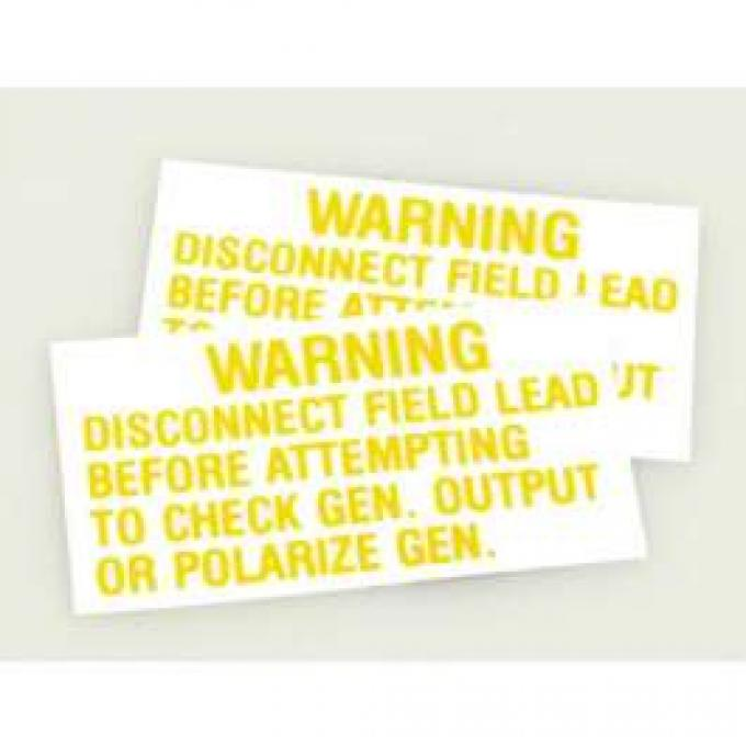 Decal - Voltage Regulator Warning