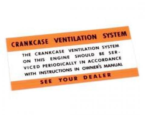 Air Cleaner Decal - Crankcase Ventilation System