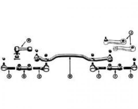 Inner Tie Rod - Power Steering - Left - 6 Cylinder