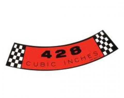 Air Cleaner Decal - 428 Cubic Inches