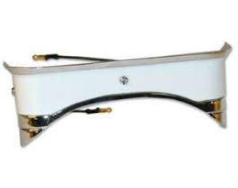 Console Light Assembly - Die-cast Body - Chromed Bezel - White Plastic Lens