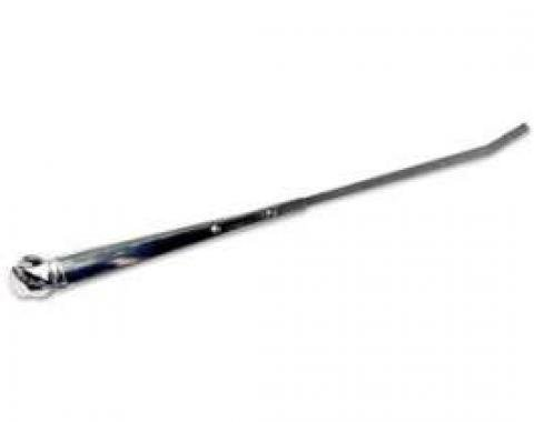 Windshield Wiper Arm - Chrome - Flanged End Cap - Reproduction
