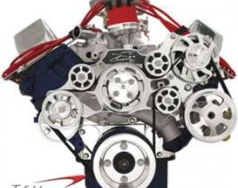 Tru Trac Serpentine System, Polished, Small Block Ford, With Power Steering, With Air Conditioning