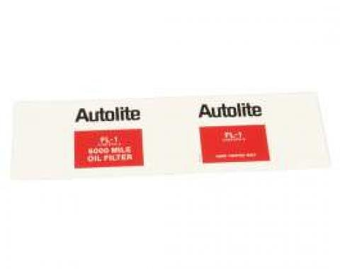 Autolite FL-1 Oil Filter Decal