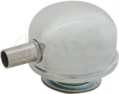 Chrome Breather Cap, Twist On