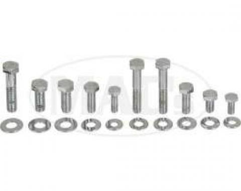 Engine Hardware Kit (Small Block, Standard Exhaust, Chrome)