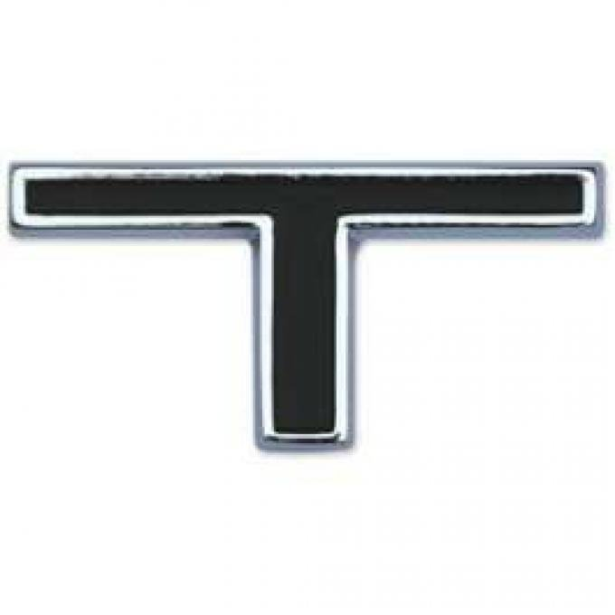 Letter - T - For GT Model - Chrome With Black Recesses