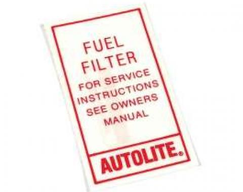 Fuel Filter Decal - Autolite