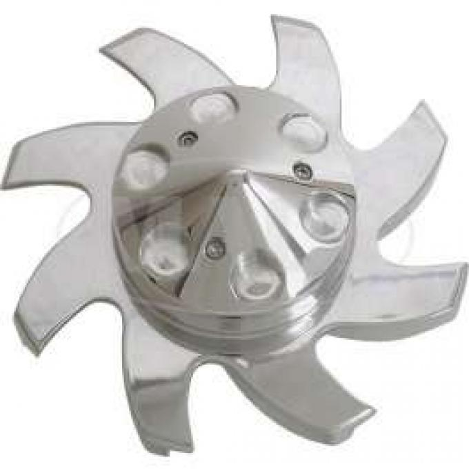 BILLET 1 PIECE ALTERNATOR PULLEY WITH FAN