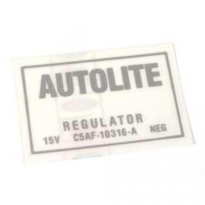 Decal - Autolite Regulator - No Air Conditioning