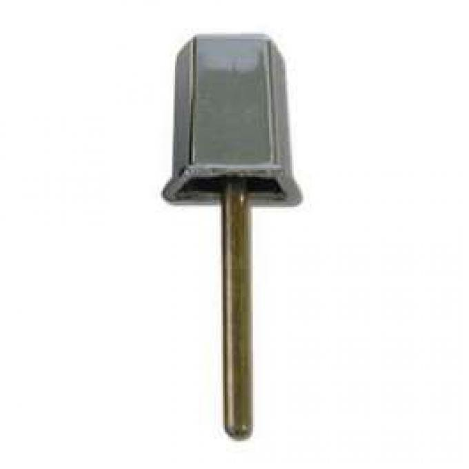 Outside Door Handle Button - Chrome