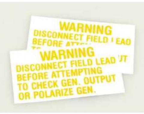 Decal - Voltage Regulator Warning