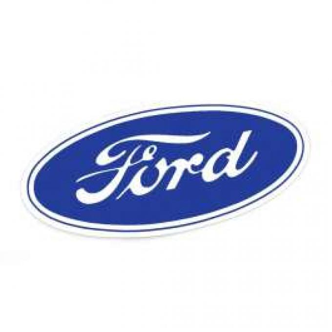 Ford Oval Decal - 9-1/2 Long - White Background - Self Adhesive