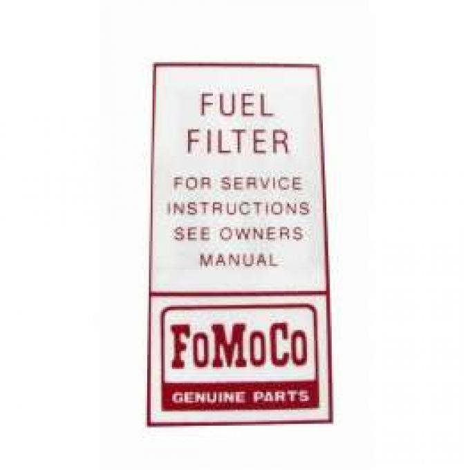 Decal - FoMoCo Fuel Filter