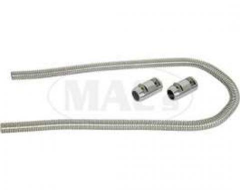 Heater Hose Set, Stainless, Ford & Mercury, 1957-1979