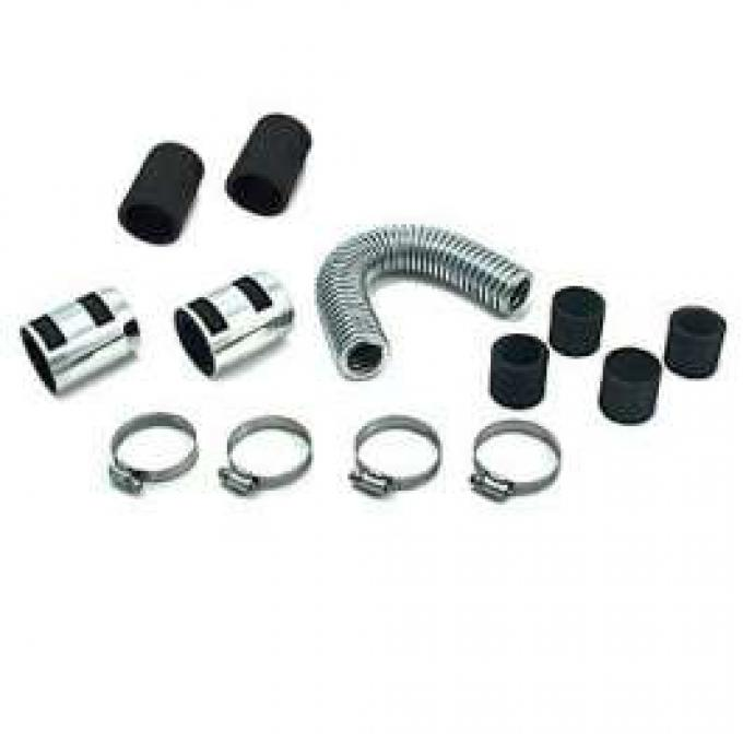 12 INCH SS RADIATOR HOSE KIT WITH CHROME ENDS