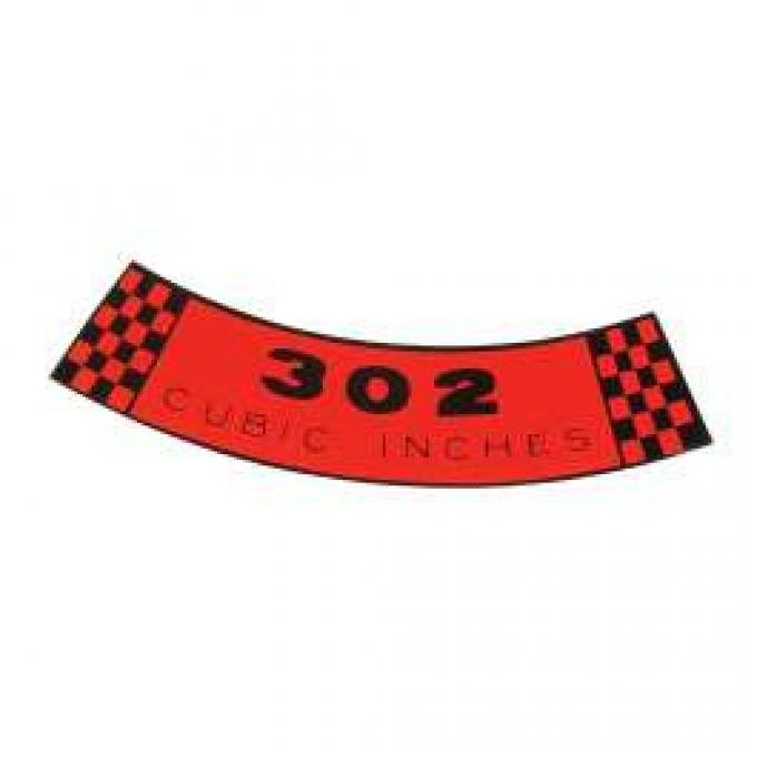 Air Cleaner Decal - 302 Engine