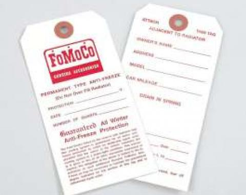 Antifreeze Tag - FoMoCo