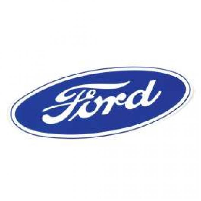Ford Oval Decal - 17 Long - White Background - Self Adhesive