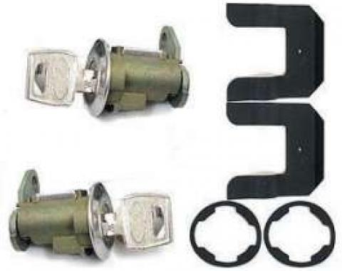 Door Lock and Ignition Cylinder Set - Includes Keys