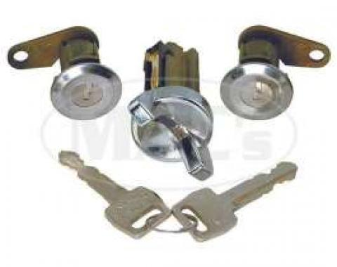 Door Lock and Ignition Cylinder Set - With Keys