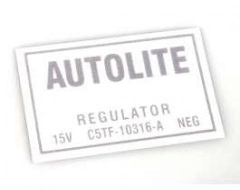 Decal - Voltage Regulator - 1965-1966