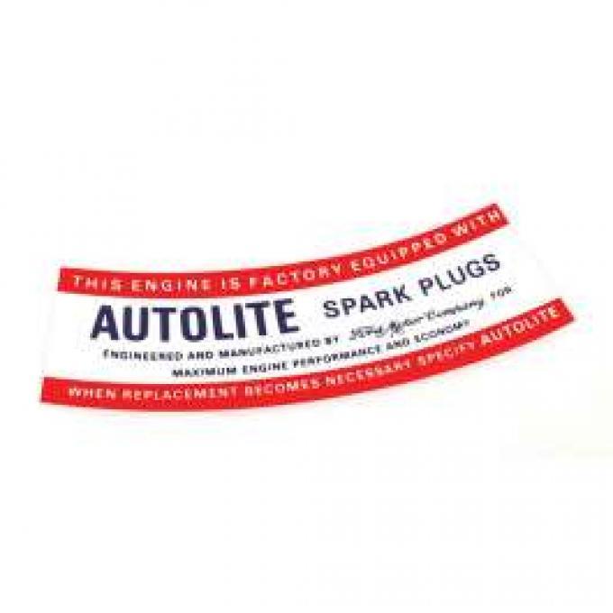 Air Cleaner Decal - Autolite Spark Plugs