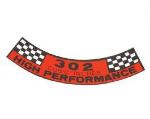Air Cleaner Decal - 302 High Performance