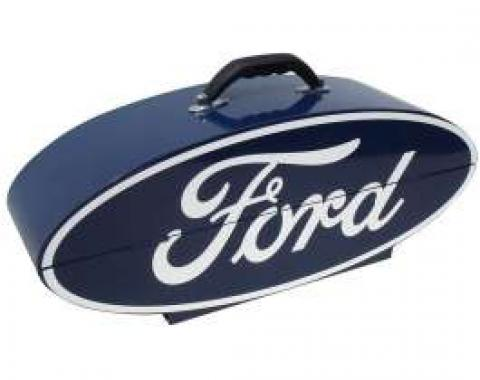 GoBox - Steel - Powder-Coated Blue Finish With A White Ford Logo - 26 Wide x 10 High x 7 Deep