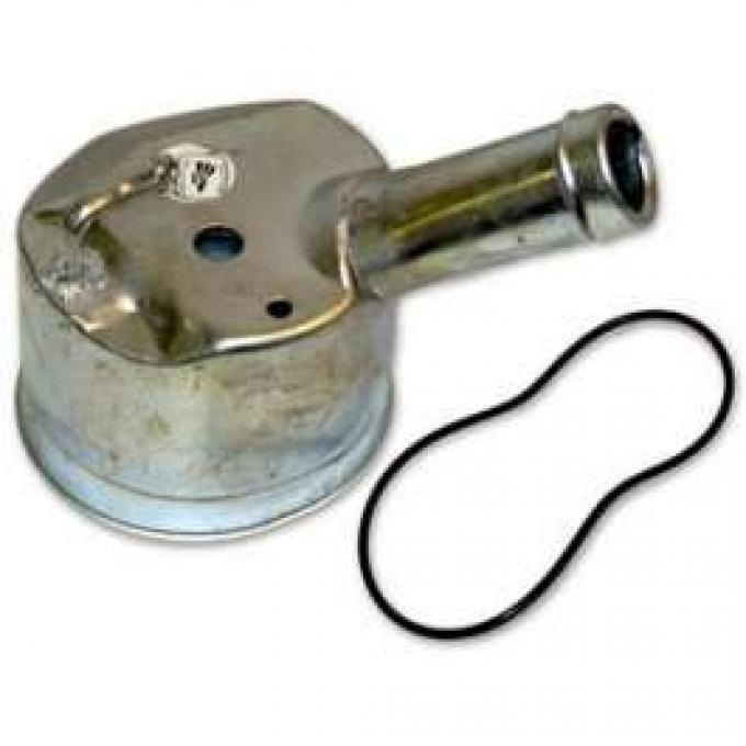 Power Steering Pump Housing - Angled Neck - For Factory Air Conditioning Cars