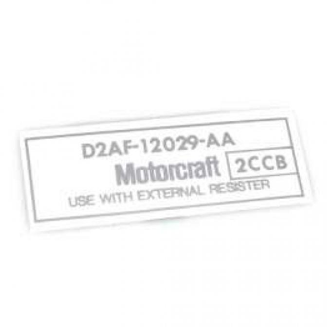 Ignition Coil Decal - Motorcraft