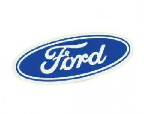 Ford Oval Decal - 3-1/2 Long - White Background - Self Adhesive