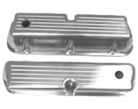Valve Covers Polished Aluminum Flames-Small Block