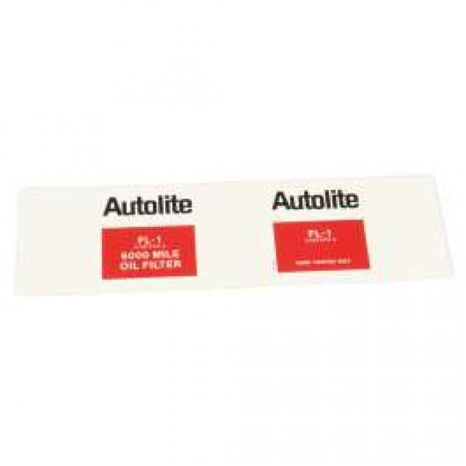 Autolite FL-1 Oil Filter Decal