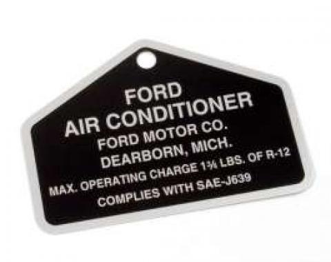 Decal - Air Conditioning Aluminum Tag