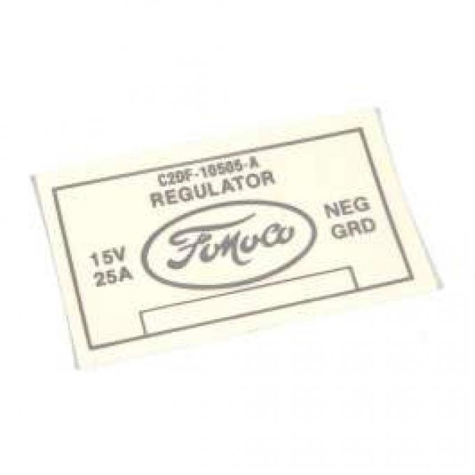 Decal - Voltage Regulator - No Air Conditioning
