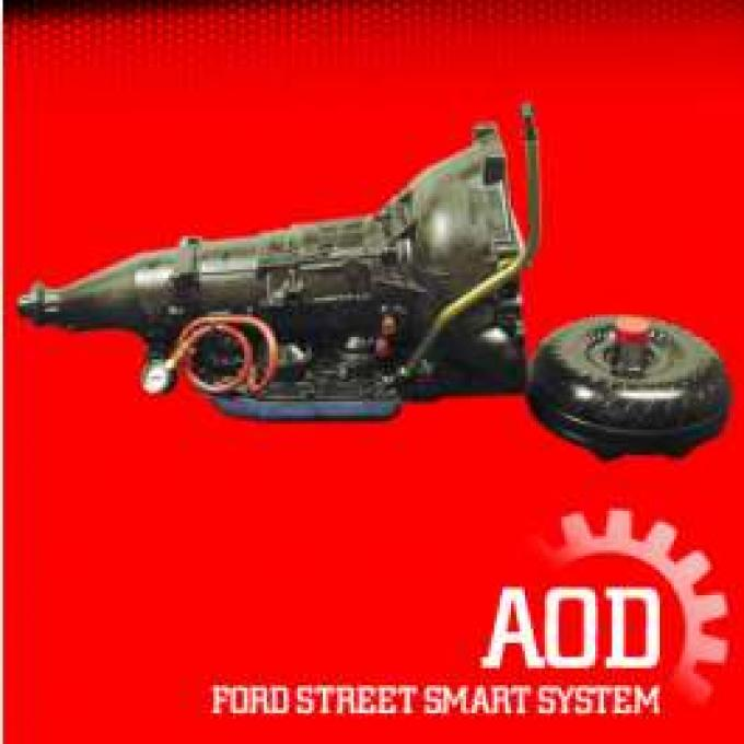 Transmission Package, Street, AOD Automatic, Small Block 260, 289, 302, 351W, 450 HP, Ford