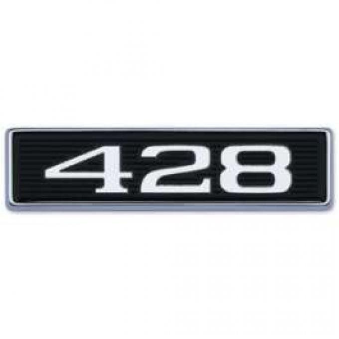 428 Hood Scoop Emblem - Correct Die-Cast
