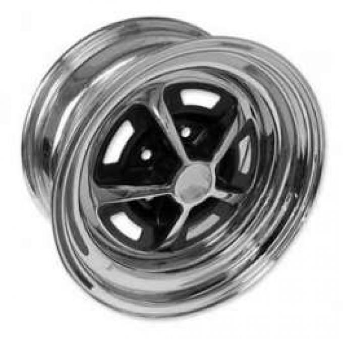 Wheel - Magnum 500 - Chrome With Black Center - 14 X 7