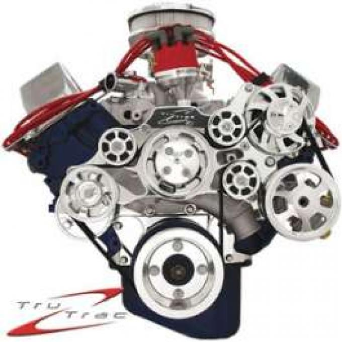 Tru Trac Serpentine System, Polished, 429 Or 460, Without Power Steering, Without Air Conditioning