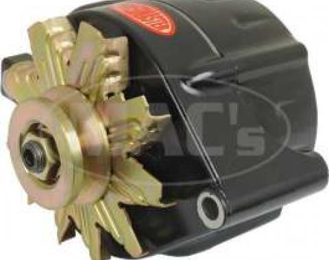 66/93 Black Finish Alternator Internally Regulated, 140 Amp