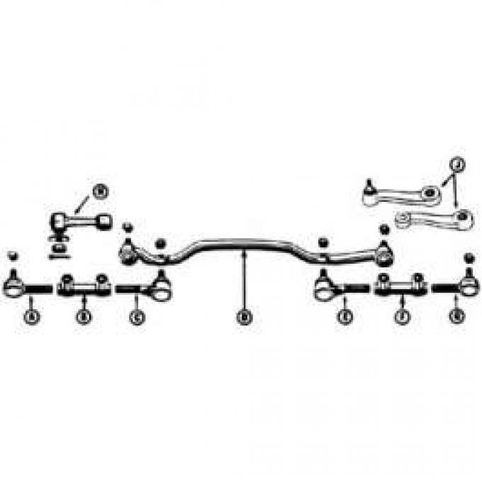 Idler Arm - Power Steering - 6 Cylinder