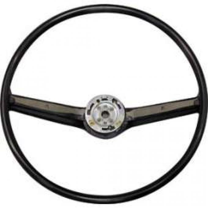 Steering Wheel - 2 Spoke Style - Black