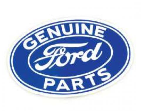 Genuine Ford Parts Decal - White Lettering On Blue Background - 3 X 2-1/8