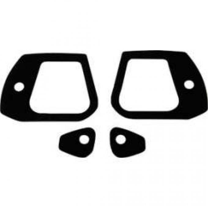 Outside Door Handle Pad Set - Black Vinyl