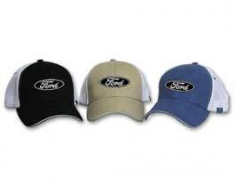 Mesh Trucker Hat, With Ford Logo
