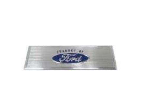Door Scuff Plate Center Emblem - Blue Logo - Adhesive Backing