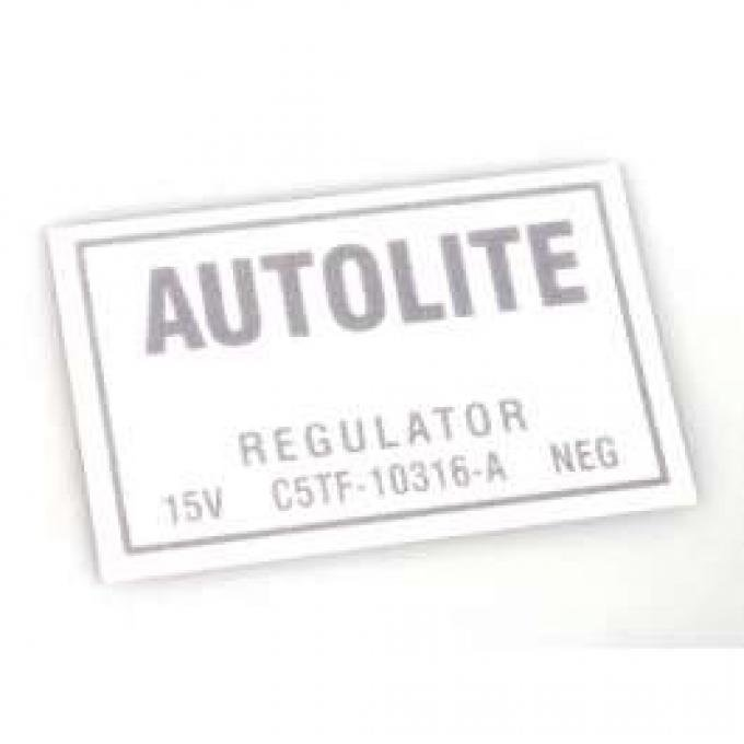 Decal - Voltage Regulator - 1965-1966